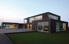 i have a thing for black brown gray homes.