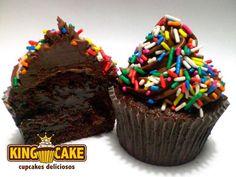 King Cakes - Cupcakes recheados de chocolate - Onde Comer em Salvador - Cupcakes em Salvador