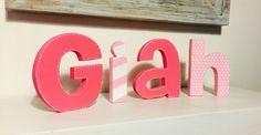 Letras decorativas niña