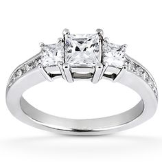 A favorite!! Taryn Collection 14 Karat White Gold Diamond Engagement Ring TQD 9006 for about $2,691