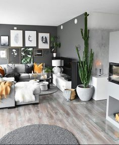 Ideas Living Room Colors Grey Small Spaces For 2019 - All About Decoration Living Room Colors, Living Room Grey, Small Living Rooms, Home Living Room, Living Room Decor, Interior Design Living Room Warm, Elegant Living Room, Home Interior, Living Room Designs