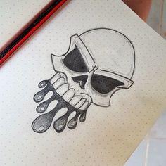 easy graffiti drawings skull cool drawing draw pencil sketches simple trippy doodles paper doodle tattoo dark community dessin siterubix google