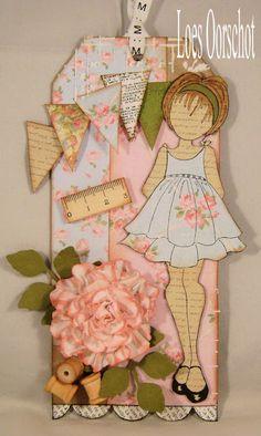 prima mixed media dolls | Dit label heb ik gemaakt met een van de zes Mixed Media Doll-stempels ...