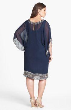J Kara Embellished Chiffon Dress (Plus Size)   Nordstrom