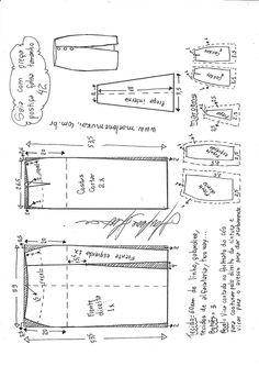 Saia com prega falsa postiça frontal Skirt Pattern Free, Skirt Patterns Sewing, Sewing Patterns Free, Free Sewing, Clothing Patterns, Free Pattern, Skirt Sewing, Diy Clothing, Sewing Clothes