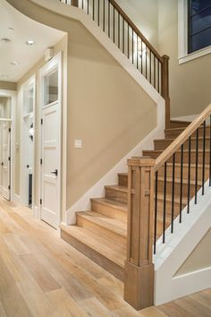Street of Dreams 2013: TTM Custom Home - transitional - staircase - portland - Alan Mascord Design Associates Inc