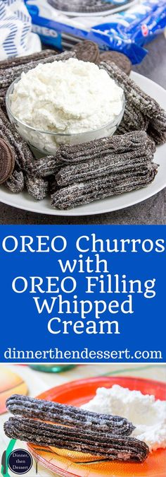 OREO Churros are crispy, tender, perfectly chocolate-y and perfectly paired with OREO filling whipped cream dip for dunking. AD. Now you can have the viral recipe made easy. #GreatTasteTourney