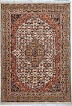 Bidjar creme bruin tapijt uit #India. #Perzische #tapijt