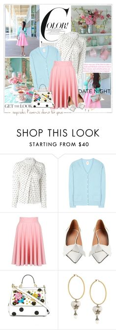 """""""Pretty Pastels"""" by likepolyfashion ❤ liked on Polyvore featuring Cacharel, Jardin des Orangers, Marni, Dolce&Gabbana, Alexander McQueen, Astley Clarke, DateNight and fashionset"""