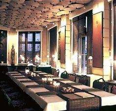 Sombat Thai restaurant Antwerp Thailand Restaurant, Cool Restaurant, Restaurant Design, Thai Decor, Dinning Room Tables, Bar Interior, Open Kitchen, Antwerp, Bangkok