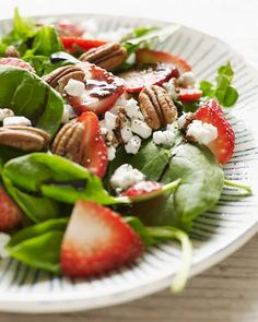 Strawberry Balsamic & Goat Cheese Salad