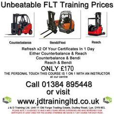 Refresh x2 forklift trucks in 1 day for only 170 at http://ift.tt/1HvuLik #training #offers #jobsearch #forklift