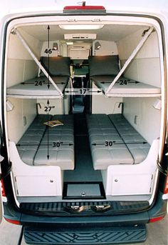 33 Camper Van Conversion Ideas , My van resembles a sauna. The Sprinter van also will come with many security characteristics that ensure that everybody is safe at all times. The Spri. Van Conversion Layout, Van Conversion Interior, Sprinter Van Conversion, Camper Van Conversion Diy, Van Interior, Van Conversion Seats, Custom Camper Vans, Custom Campers, Cool Campers