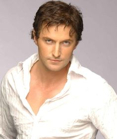 """Some blue-eyed, naked-chested, messy-haired """"I am sex"""" Richard Armitage for your Sunday. Enjoy."""