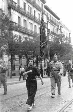 Militia parade in Madrid