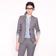 Those look like my glasses, which I guess means that  this JCREW suit is for me -Petite 1035 jacket in Super 120s