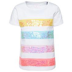 T-Shirt mit Pailletten-Artwork für Babies (unifarben mit Print, kurzärmlig mit Rundhalsausschnitt) - TOM TAILOR