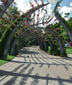 contemporary rendition of the classic arbor. Urban Landscape, Landscape Design, Bridge Design, Urban Park, Pergola Canopy, Garden Park, Shade Structure, Parking Design, Outside Living