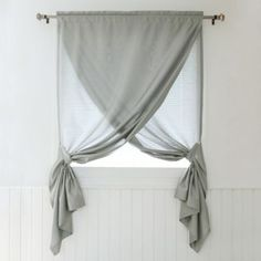 The Decorinnovation Faux Silk Overlapping Window Curtain Panel is really two pan. The Decorinnovation Faux Silk Overlapping Window Curtain Panel is really two panels that hang on one rod and drape t Bathroom Window Treatments, Home, Bathroom Windows, Bedroom Design, Drapes Curtains, Curtains, Small Bathroom Window, Curtain Decor, Small Window Curtains