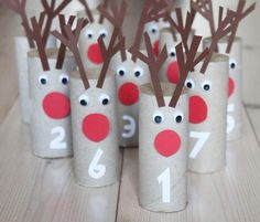 This Rudolph Toilet Paper Roll Advent Calendar is such a creative and fun Christmas craft idea. Most advent calendars are connected, but each of these reindeer stand up on their own so you can rearrange them as you wish.
