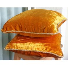Luxury Orange Yellow Pillows Cover, 16x16 Velvet Pillows Cover, Square Solid Color Beaded Cord Pillowcases - Glorious Flame ______________________________________________________________  The design Glorious Flame has been conceptualized and created, keeping in mind the finest details and needs to decorate your beautiful abode. It is a perfect addition to enhance your living room, bedroom, guestroom or office. I promise it will give a WOW factor to you and your guests visiting your home…
