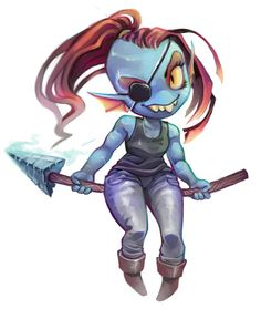 Chibi Undyne by thecrowkid on DeviantArt