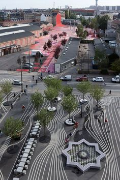 Superkilen urban park in Copenhagen, Denmark (Photo: Iwan Baan)  lσvє ♥ #bluedivagal, bluedivadesigns.wordpress.com