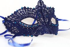 Lace mask masquerade mask fit for wedding by Stefanelbeadwork, $25.00