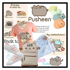 """""""#PVxPusheen"""" by shehasnoworries ❤ liked on Polyvore featuring Pusheen, adidas Originals, contestentry and PVxPusheen"""