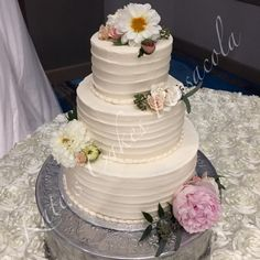 All Buttercream Rustic Wedding Cake Pensacola Florida Kates Cakes