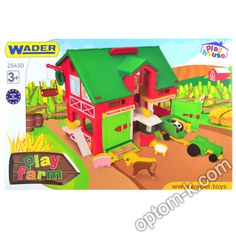 """Купити Будиночок-ферма, 37х35х30 см, у коробці 58х39х15 см, """"Wader"""" оптом. Вигідна ціна в Україні! Nerf, Play, Toys, Activity Toys, Clearance Toys, Gaming, Games, Toy, Beanie Boos"""
