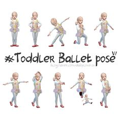 — toddler ballet pose by * 2 kinds. Toddler Dance, Toddler Poses, Toddler Ballet, Ballet Kids, Kid Poses, Ballerina Poses, Ballet Poses, Dance Poses, Sims 4 Toddler Clothes