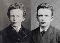 The brothers Vincent (left) and Theo (right) Van Gogh as young men.