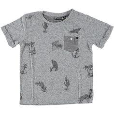 Shirt van Tumble 'n Dry (model Aziz) in de kleur dark grey melee | Olliewood
