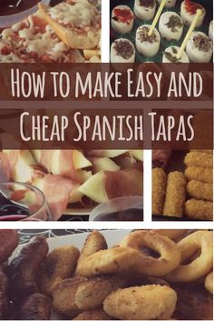 Tapas are small dishes served with drinks many places is Spain. Learn how to make your own traditional tapas. It is surprisingly easy and cheap!