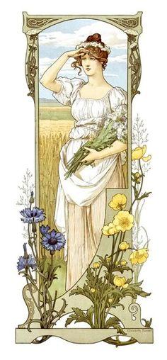 elisabeth sonrel 1874-1953 - fleurs des champs