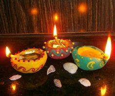 Handmade Decorative Diya (Oil Lamps) #decoration #lighting
