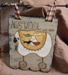 Hand painted Primitive Decor by AndersonGeneralStore on Etsy, $32.95