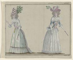 Magasin des Modes Nouvelles Françaises et Anglaises, 21 mai 1789, Pl.  2 et 3, A.B. Duhamel, Buisson, 1789
