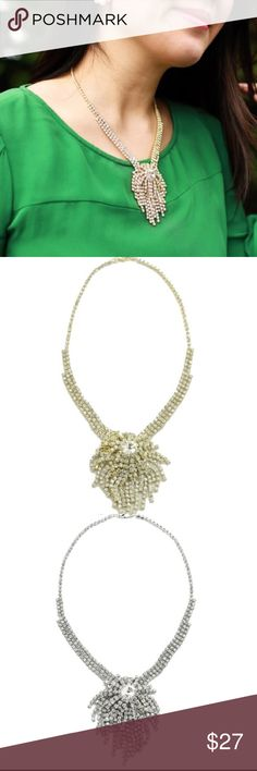 COMING SOON Crystal deco firework necklace Beautiful, 18k gold plated necklace. Will post length when these arrive! Jewelry Necklaces