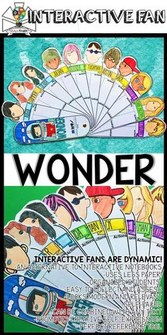 WONDER BY R.J. PALACIO CHARACTERIZATION INTERACTIVE FAN | English Language Arts | This new Wonder learning tool is so much fun and loaded with visuals to boost your Wonder teaching lessons. Teachers will build their students' confidence one interactive fan at a time. In every interactive fan you'll find a variety of fill-ins ready for students to complete guided notes, concepts, definitions, characters, notable people, images, key terms, research opportunities, skill building, and more!