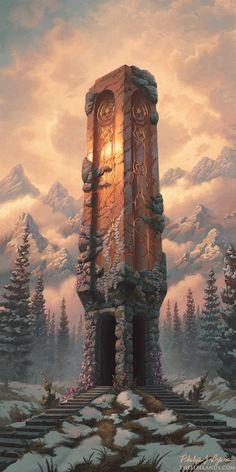 Fantasy City, Fantasy Castle, Fantasy Places, Fantasy World, Fantasy Concept Art, Dark Fantasy Art, Fantasy Artwork, Fantasy Art Landscapes, Fantasy Landscape