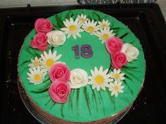 24.3.2017 Rozkvetlý narozeninový dort