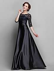 A-line Jewel Floor-length Stretch Satin And Lace Mother of the Bride... – USD $ 89.99