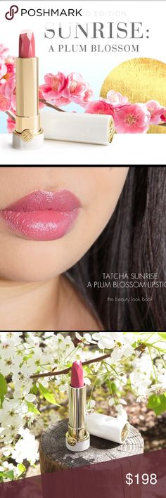 Tatcha sunrise plum blossom lipstick RARE NEW Selling for my sister in law, she has two shes never used, the color doesn't work lol, I know this works for tons of ppl!!   The lipstick tube itself is a Piece of art!   Happy shopping!  I can do $110 on merc Tatcha Makeup Lipstick