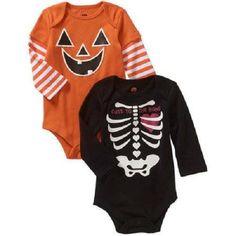 Baby Girls Halloween Bodysuit/Onesie 2 Pack New with Tags!! Sz 3-6 Months  #HolidayHalloween
