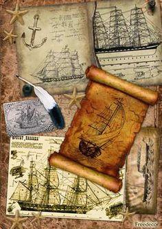 Старинные рисунки кораблей