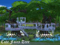 This is a cozy tree house for your single sim, a fairy maybe? xD  Found in TSR Category 'Sims 4 Residential Lots'