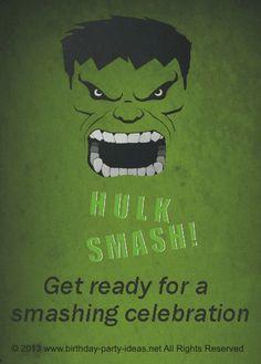 Hulk birthday party theme