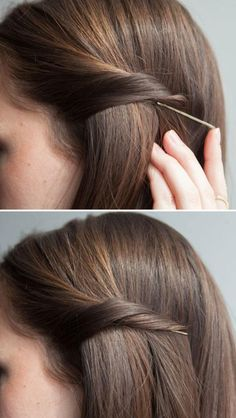 How to pin your hair back and hide the bobby pin